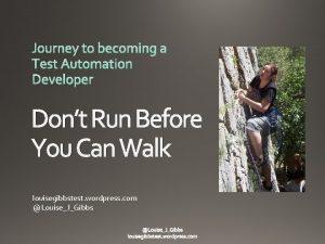 Dont Run Before You Can Walk louisegibbstest wordpress