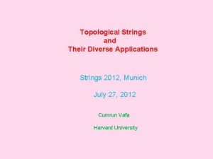 Topological Strings and Their Diverse Applications Strings 2012