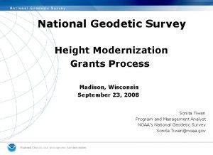 National Geodetic Survey Height Modernization Grants Process Madison