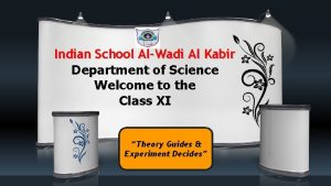 Indian School AlWadi Al Kabir Department of Science