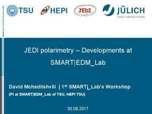 Mitglied der HelmholtzGemeinschaft TSU HEPI JEDI polarimetry Developments