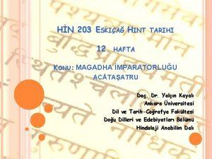 HN 203 ESKIA HINT 12 TARIHI HAFTA KONU