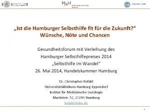 Ist die Hamburger Selbsthilfe fit fr die Zukunft