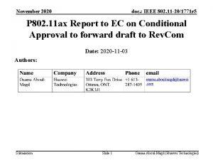 November 2020 doc IEEE 802 11 201771 r