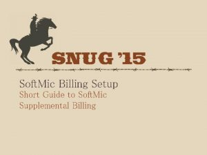 Soft Mic Billing Setup Short Guide to Soft