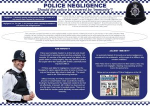 POLICE NEGLIGENCE Should the police be covered by