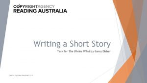 Writing a Short Story Task for The Divine