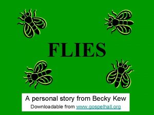 FLIES A personal story from Becky Kew Downloadable