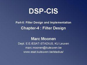DSPCIS PartII Filter Design and Implementation Chapter4 Filter