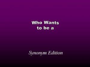 Synonym Edition 1 000 500 000 250 000