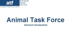 Animal Task Force General introduction The Animal Task