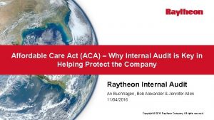 Affordable Care Act ACA Why Internal Audit is