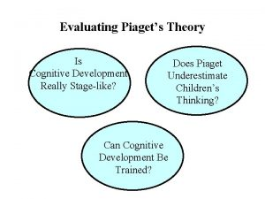 Evaluating Piagets Theory Is Cognitive Development Really Stagelike