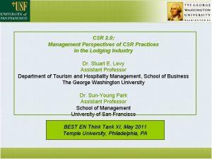 CSR 2 0 Management Perspectives of CSR Practices