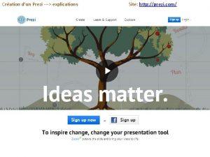 Cration dun Prezi explications Site http prezi com