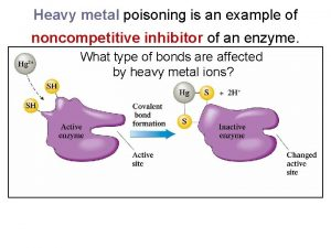 Heavy metal poisoning is an example of noncompetitive