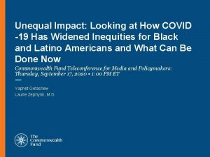 Unequal Impact Looking at How COVID 19 Has
