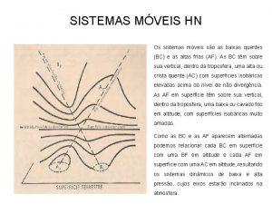 SISTEMAS MVEIS HN Os sistemas mveis so as