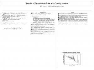Details of EquationofState and Opacity Models Igor V