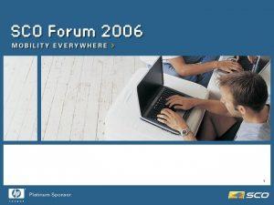 Presentation Title Unix Ware and SCO Open Server