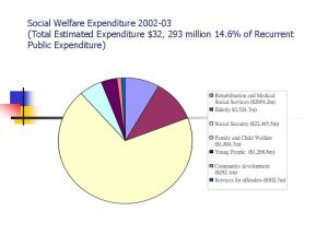 Social Welfare Expenditure 2002 03 Total Estimated Expenditure
