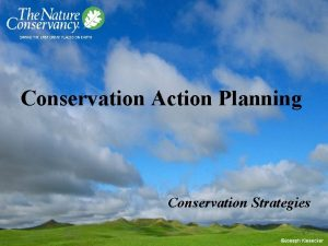 Conservation Action Planning Conservation Strategies Conservation Strategies A