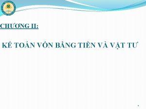 CHNG II K TON VN BNG TIN V