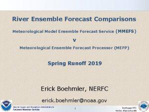 River Ensemble Forecast Comparisons Meteorological Model Ensemble Forecast