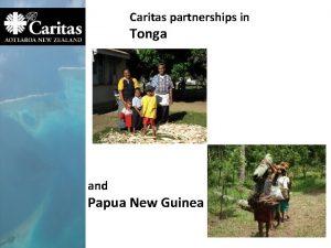 Caritas partnerships in Tonga and Papua New Guinea
