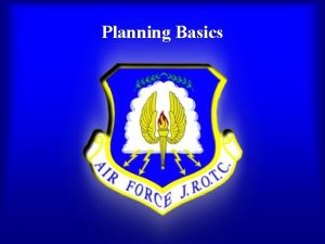 Planning Basics What Is Planning Planning is defining