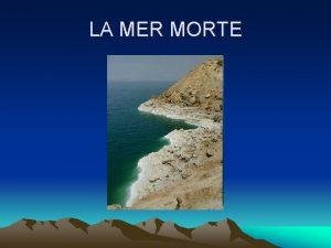 LA MER MORTE La Mer Morte nest pas
