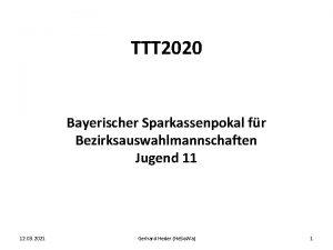 TTT 2020 Bayerischer Sparkassenpokal fr Bezirksauswahlmannschaften Jugend 11