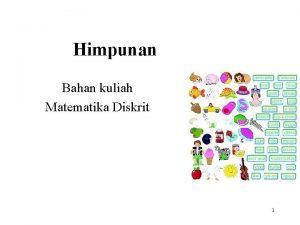 Himpunan Bahan kuliah Matematika Diskrit 1 Definisi Himpunan