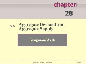 chapter 28 Aggregate Demand Aggregate Supply KrugmanWells 2009