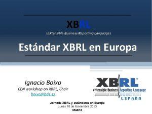 XBRL e Xtensible Business Reporting Language Estndar XBRL