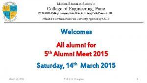 Modern Education Societys College of Engineering Pune 19