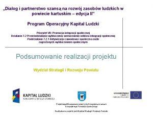 Dialog i partnerstwo szans na rozwj zasobw ludzkich