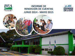 INFORME DE RENDICIN DE CUENTAS JUNIO 2014 MAYO