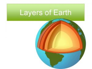 Layers of Earth Layers of Earth Crust Crust