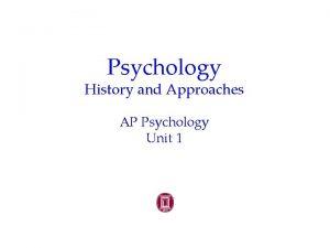 Psychology History and Approaches AP Psychology Unit 1