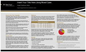 Insert Your Title Here Using Mixed Case Insert