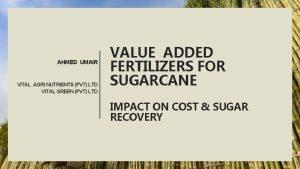 AHMED UMAIR VITAL AGRI NUTRIENTS PVT LTD VITAL