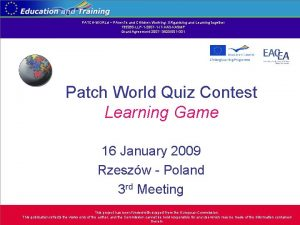 PATCHWORLd PAren Ts and CHildren Working ORganising and