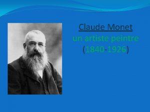 Claude Monet un artiste peintre 1840 1926 sommaire