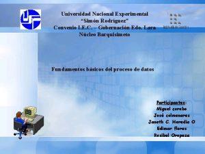 Universidad Nacional Experimental Simn Rodrguez Convenio I E
