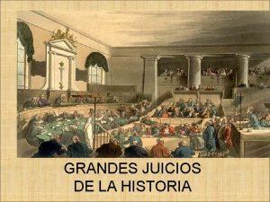 GRANDES JUICIOS DE LA HISTORIA BREVES 2000 AOS