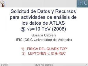 Solicitud de Datos y Recursos para actividades de