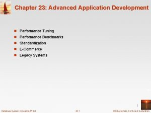 Chapter 23 Advanced Application Development n Performance Tuning