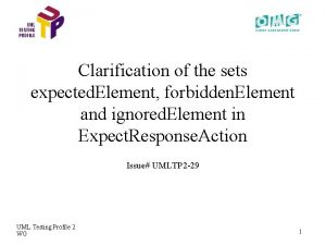 Clarification of the sets expected Element forbidden Element