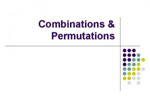 Combinations Permutations Essentials Permutations Combinations So thats how